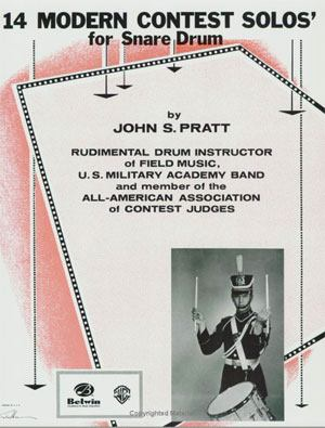 John S. Pratt 14 Modern Contest Solos for Snare Drum