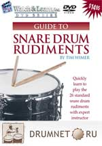 Snare Drum Rudiments by Tim Wimer